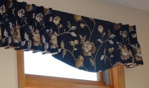 Navy blue Valance