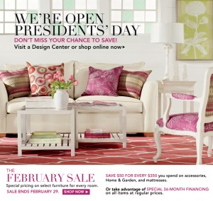 February 2012 Sale at Ethan Allen