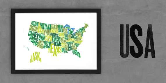 Font Map USA