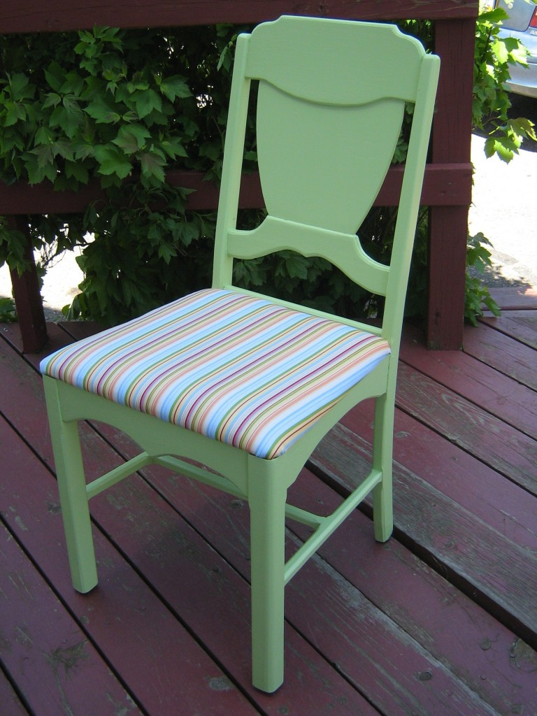 Painted chair after