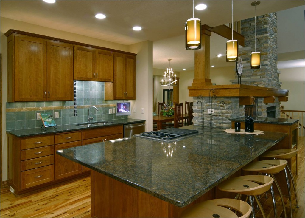 Luxury kitchen with custom backsplash
