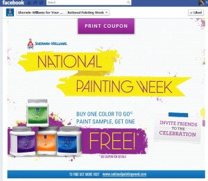 Sherwin Williams BOGO coupon