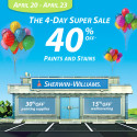 Sherwin Williams Spring Paint Sale – April 20-23, 2012