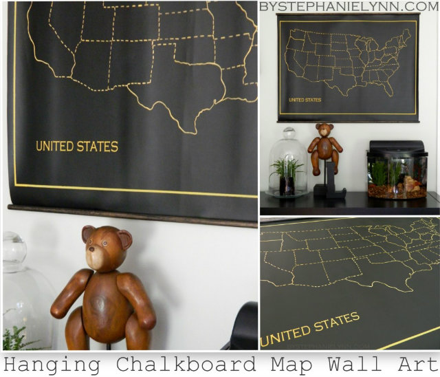 chalkboard fabric map