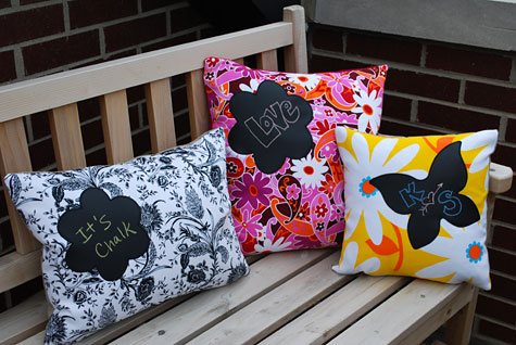 Chalkboard pillow