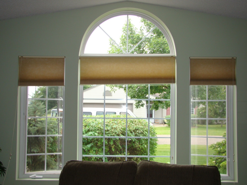 Before and after another way to treat arched windows a for Window design arch