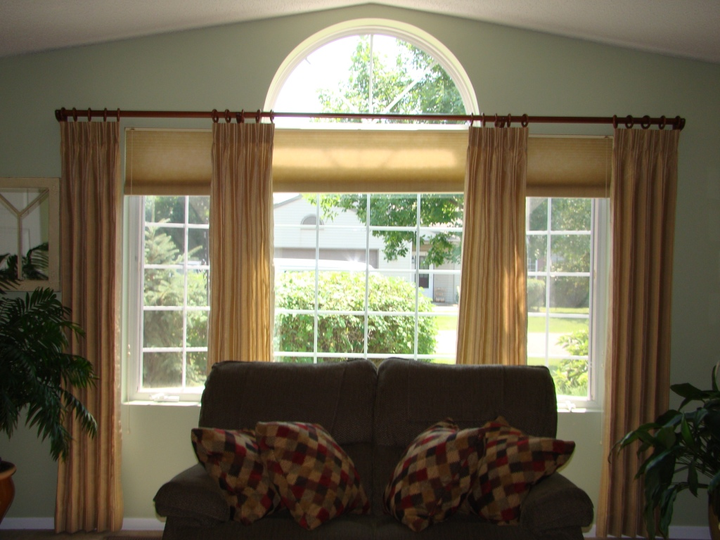 Before And After Another Way To Treat Arched Windows A Little Design Help