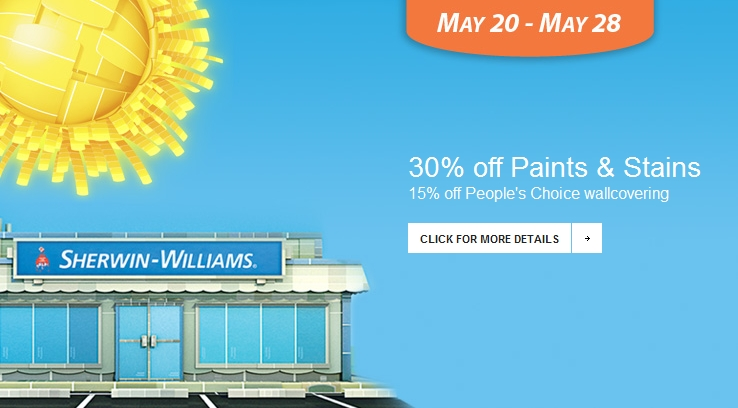 Sherwin Williams Sale May 2012