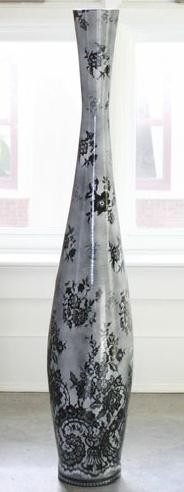black lace vase