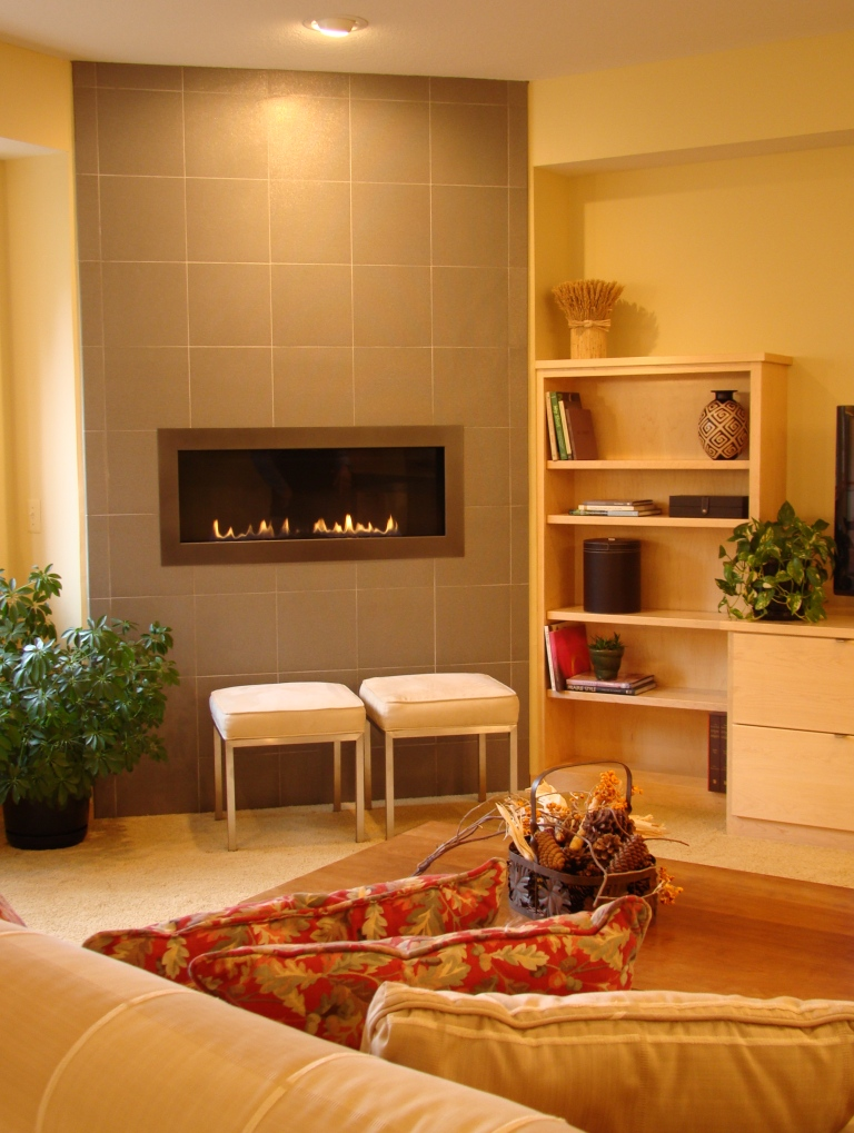 modern tile fireplace