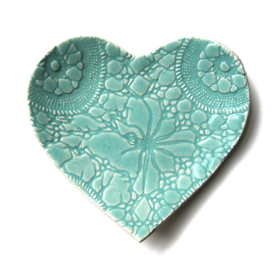 Etsy heart lace plate