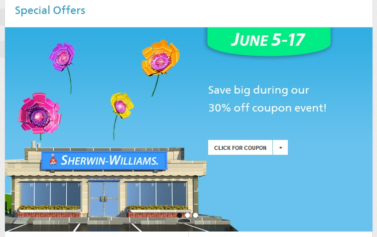 Sherwin Williams paint sale June 2012