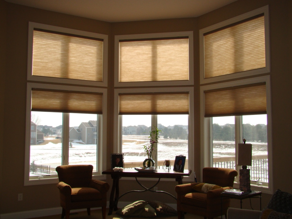 Before and after window treatments for high windows a for Blinds for tall windows
