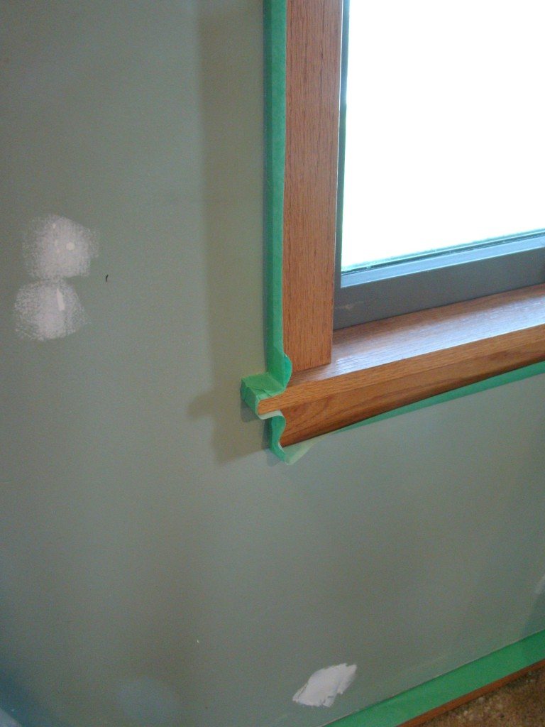 Painting prep how to do it properly a little design help for Drywall around windows