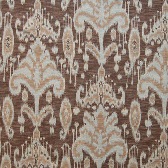 Greenhouse Design Brown Ikat Fabric