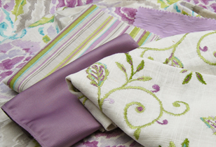 Greenhouse design purple fabrics