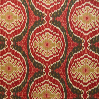Greenhouse Design Red Ikat Fabric