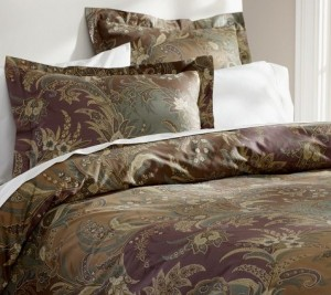 Pottery Barn plum Bedding