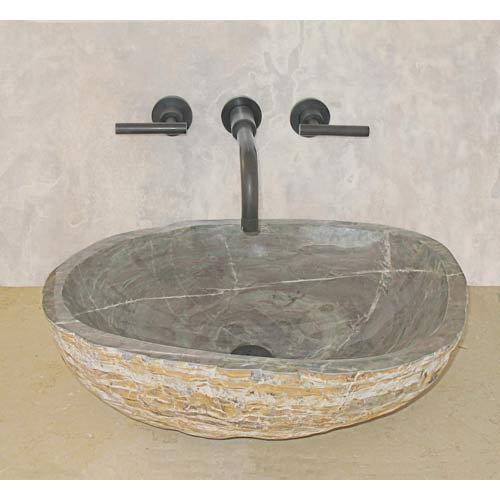Stone vessel sinks like this granite model require more maintenance ...