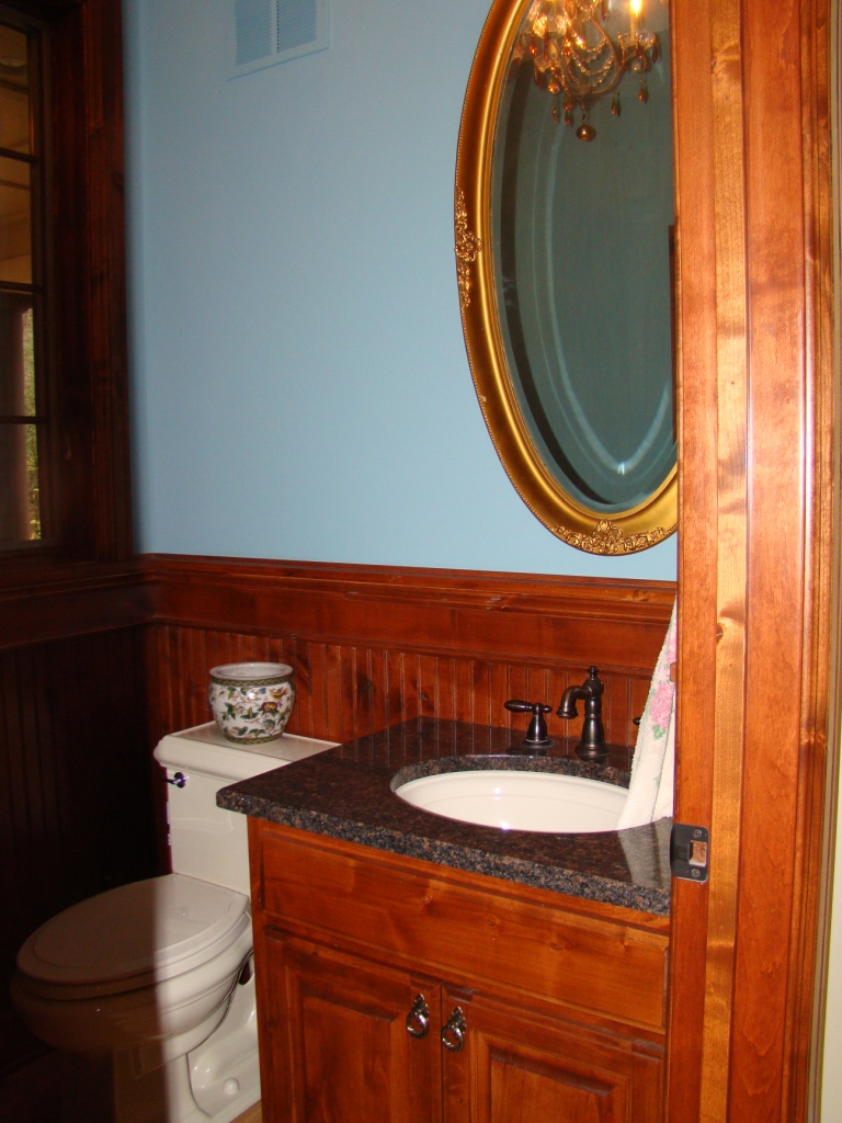 Wainscoting in a powder room
