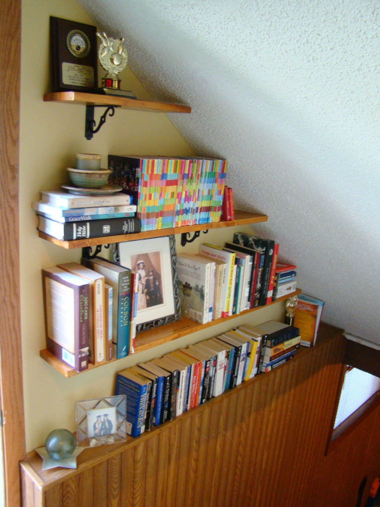 filled shelves