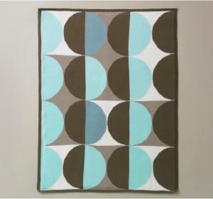 Blue geometric blanket