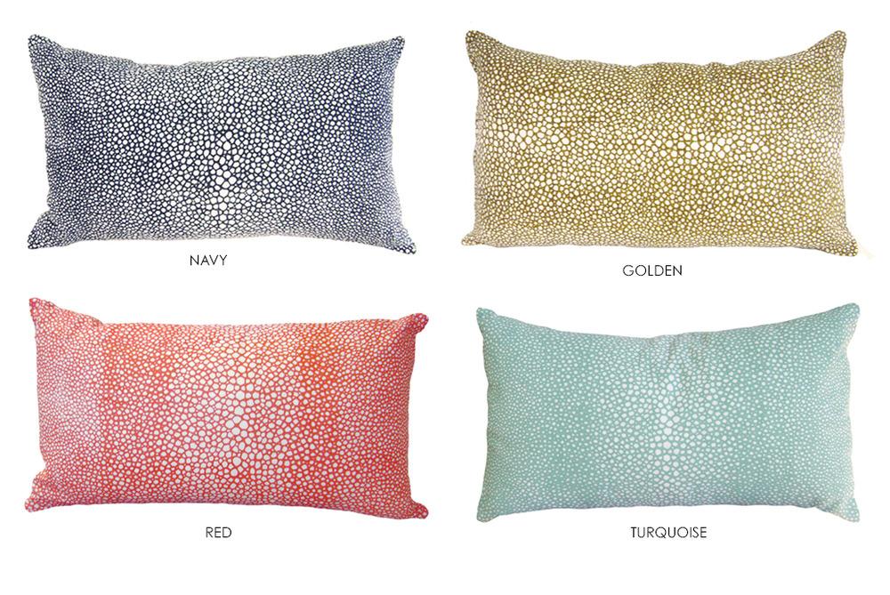 shagreen pillow