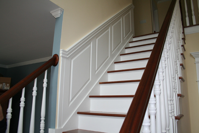 Raised Panel Staircase Wainscoting