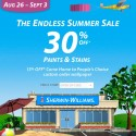 Sherwin Williams Endless Summer Paint Sale – August 26-September 3, 2012