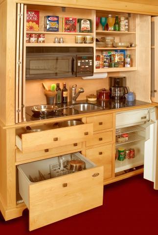 YesterTec Kitchen Armoire Open