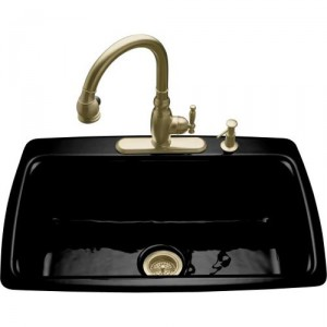 Kohler self-rimming single bowl sink