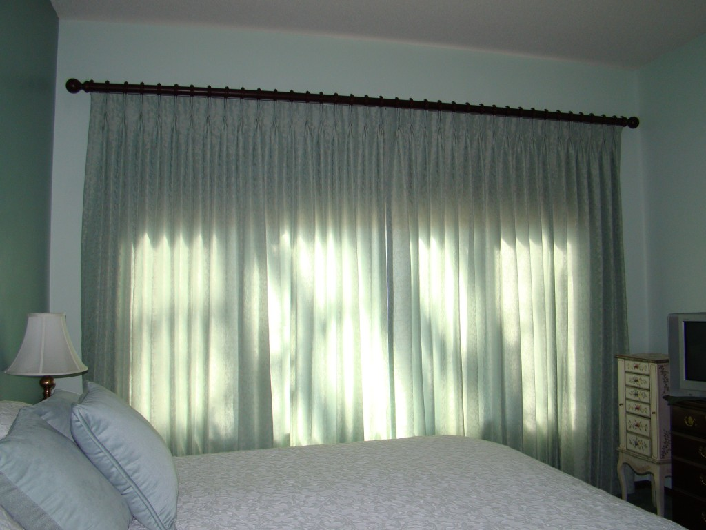 master bedroom drapery closed