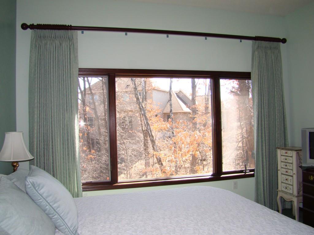 master bedroom drapery open