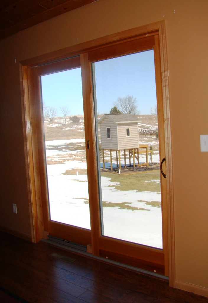 Patio door before pic