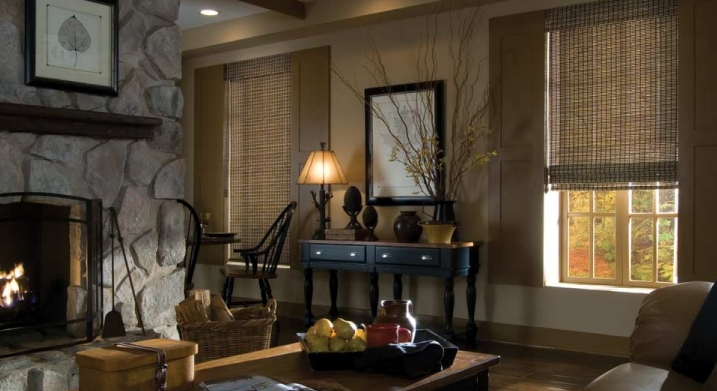 woven wood shade by Hunter Douglas
