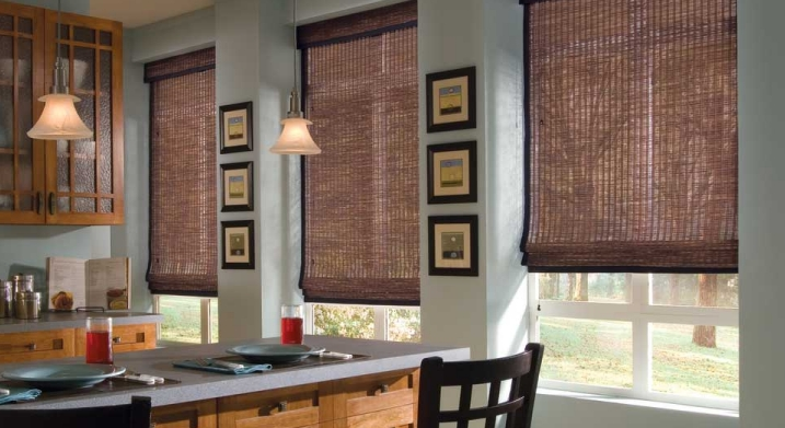 Woven Wood Shade with Edge Banding
