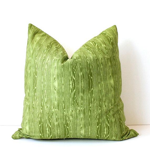 faux bois pillow