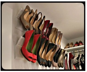 Crown molding shoe shelf