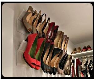 Crown molding shoe shelf