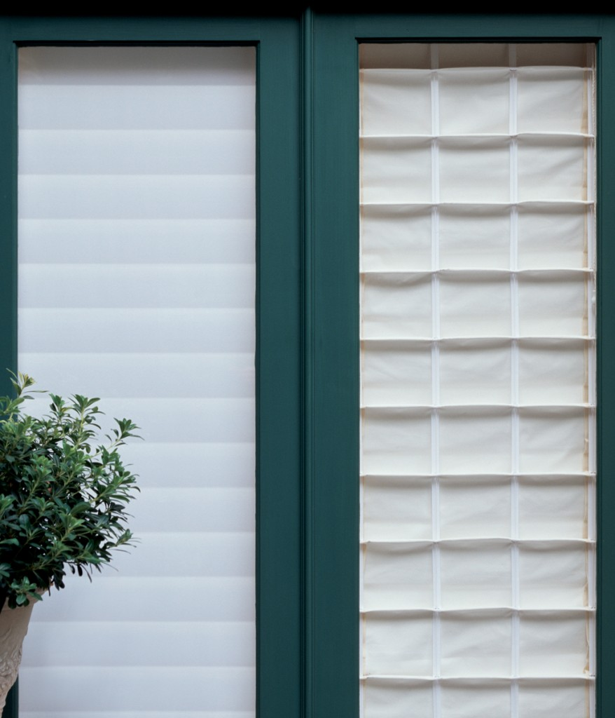 Roman shade exterior view