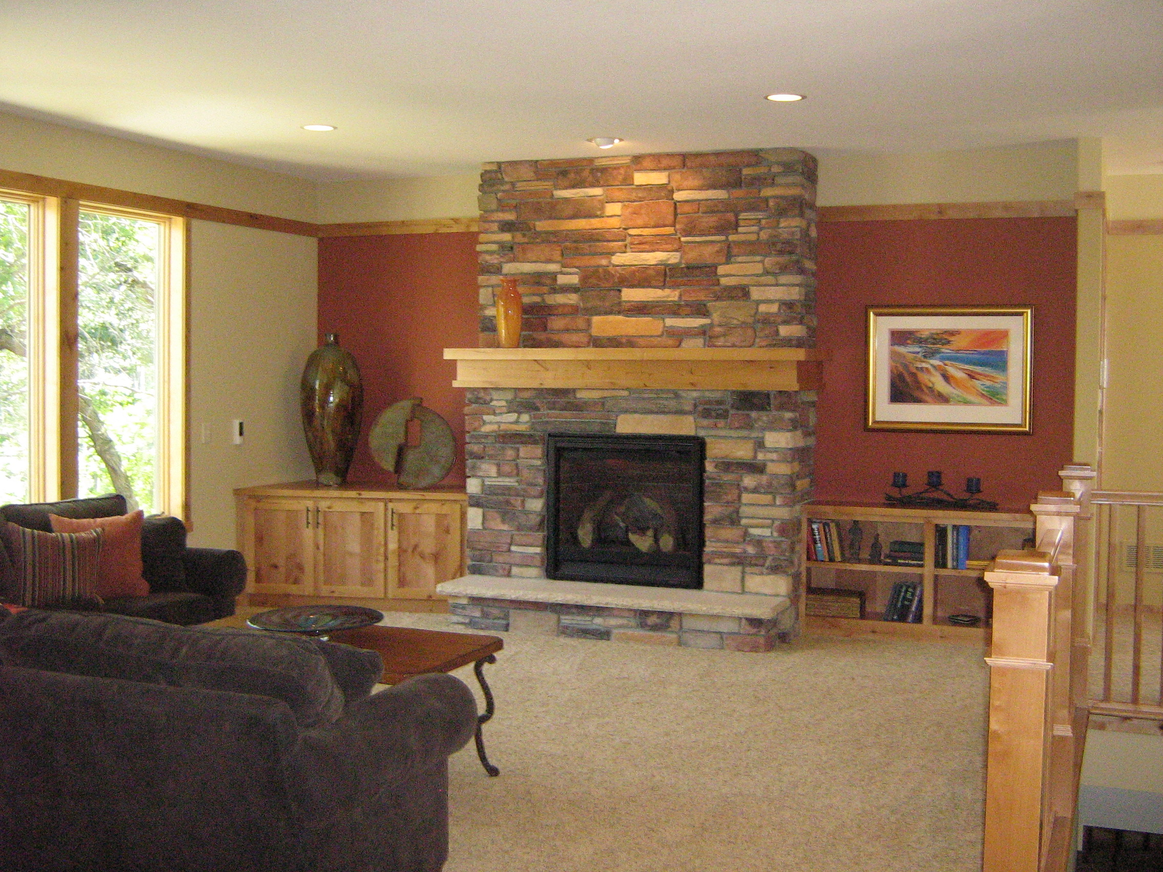 Stone Fireplace Accent Wall