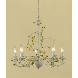 yellow flower chandelier