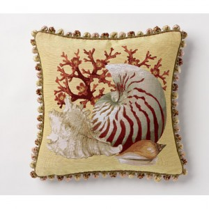 yellow shell pillow