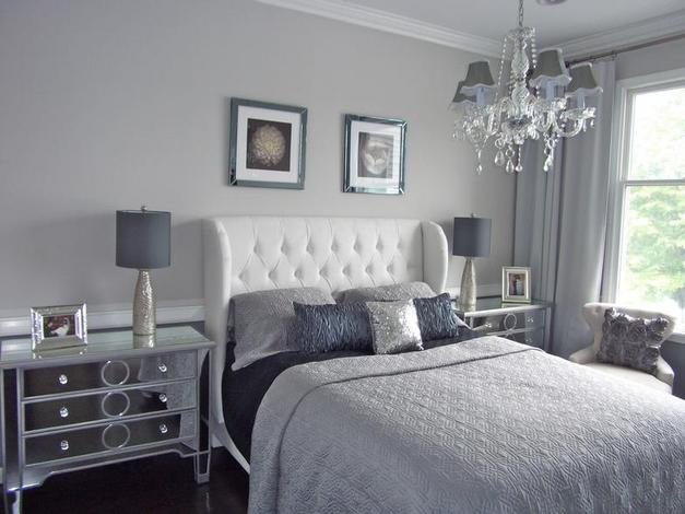 Guest post shades of grey in the bedroom a little for Grey wall bedroom ideas
