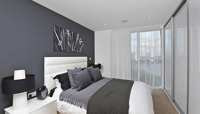 Modern gray bedroom. Guest Post  Shades of Grey in the Bedroom   A Little Design Help