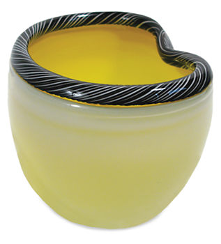 Yellow glass bowl