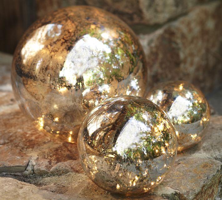 mercury glass globes