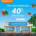 Sherwin Williams Super Sale – November 9-12, 2012