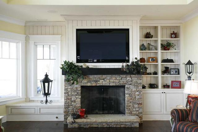 Fireplace Designs With Tv Above Flat Screen Tv Over