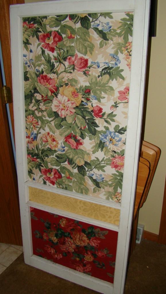 Screen door upcycle art